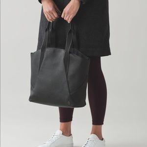 Lululemon black Go Wild large tote utility bag